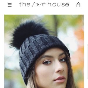 THE FUR HOUSE beanie